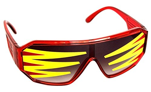 Rasslor Side Spike Red Shield Sunglases -