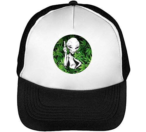 Alien High | Best Weed | Relax Collection | Cool T Shirt | Nice To | Super | Osom Smoke | Popular Green | Yolo Swag | Gorras Hombre Snapback Beisbol Negro Blanco