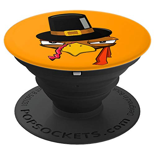 Turkey Funny Face Costume Thanksgiving Day Gift - PopSockets Grip and Stand for Phones and Tablets]()
