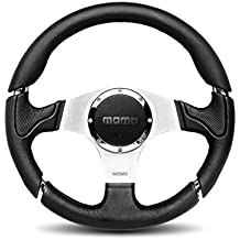 Momo MIL35BK1P Millenium 350 mm Leather Steering Wheel