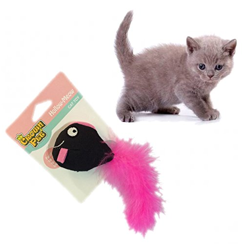 well-wreapped WeGlow Fish Pink Longtail fish doll for cat [catnip toy]