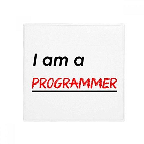 Quote I Am A Programmer Anti-slip Floor Pet Mat Square Home Kitchen Door 80cm Gift