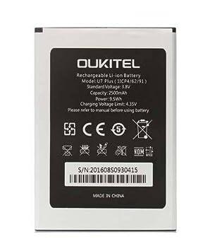 Theoutlettablet® BATERIA reemplazo OUKITEL U7 Plus Battery Capacidad 2500mAh 1ICP4/62/91