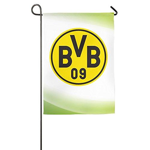 Borussia Dortmund BVB 09 Logo Home Garden Flags White