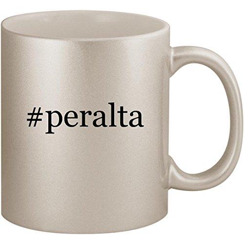 (#peralta - 11oz Ceramic Coffee Mug Cup, Silver)
