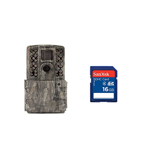 4MP No Glow Infrared Game Camera, Pine Bark + 16GB SD Card ()