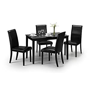 Julian Bowen Hudson Dining Table – Black Lacquer
