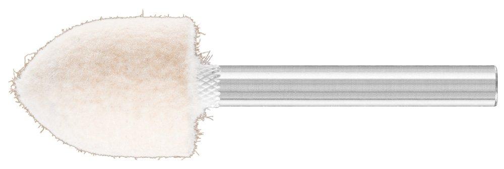 PFERD 48576 Conical Felt Point, Shape SPK, 3/4'' Diameter x 1'' Length, 1/4'' Shank Diameter x 1-5/8'' Shank Length, 23500 Max RPM (Pack of 10)
