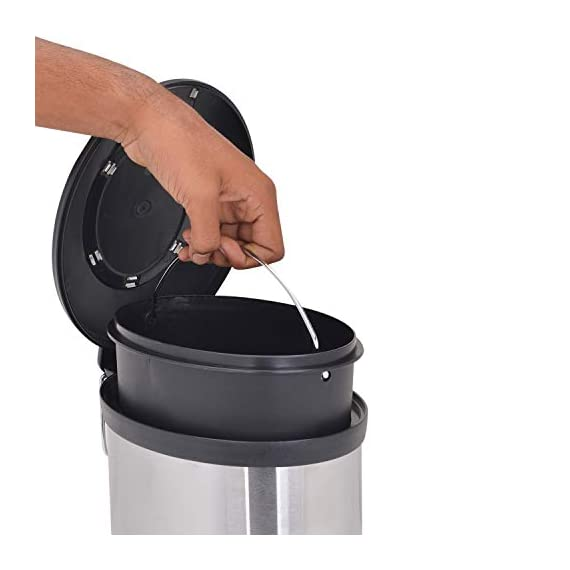 Bathla Contempo Stainless Steel Pedal Step Dustbin - Small (5 L) 6