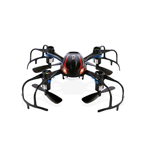 TEC.BEAN X902 Black Spider Mini RC Quadcopter Drone with 3D Flip 2.4Ghz 6-Axis Gyro for Beginner, Black