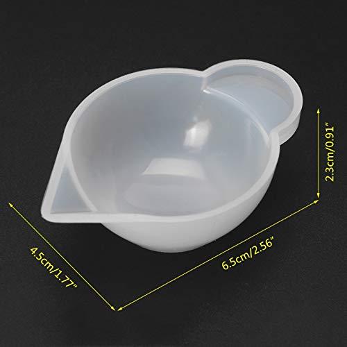 Hpybest Silikonform Tassenspender DIY Epoxidharz Schmuckherstellung Zubeh/ör Farbmodulation