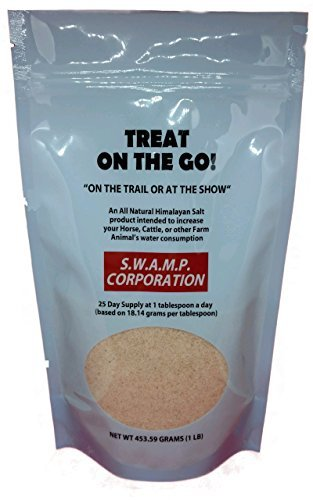 S.W.A.M.P. Corporation 1 lb. Treat on the Go All Natural Fine Himalayan Salt for Animals, Horses, Deer by S.W.A.M.P. Corporation