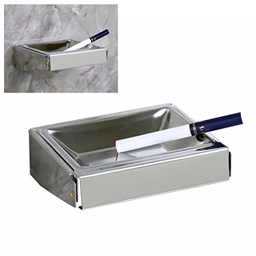 Free Punching Fashion Stainless Steel Ashtray Creative Personality Wall-Mounted Ashtray for Home Office Toilet Bathroom Eliminate Smoke