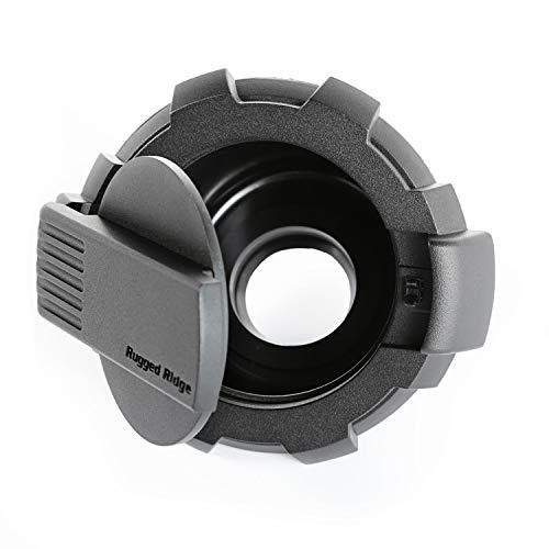 Rugged Ridge 11425.12 Black Elite Fuel Door (Non-Lock, 07-18 JK)