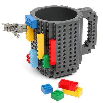 (2 PCS Creative DIY Brick Mug Building Blocks Coffee Cup Block Puzzle Mug 12oz - Drinkware & Tea Sets Water Bottles & Cups -)