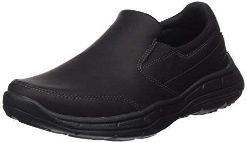 Skechers USA Men's Glides Calculous Slip-On Loafer,Black,12 M US