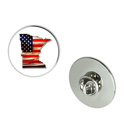 NYC Jewelers Minnesota American Flag Metal 0.75