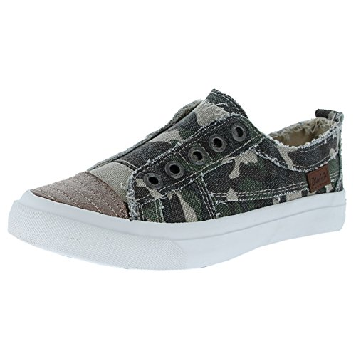 Blowfish Play Olive Washed Camo Womens Casual Size 6M