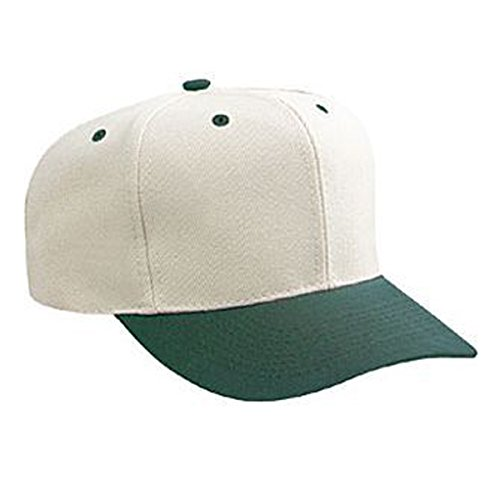 (Product of Ottocap Wool Blend Twill Gray Undervisor Six Panel Pro Style Baseball Cap -Dk.GRN/STN.Gry [Wholesale Price on Bulk])