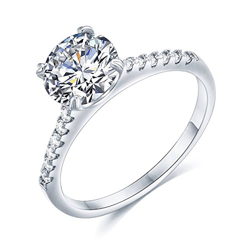 Sego Alchemy 2 CT. Round Cut AAA Cubic Zirconia Stone Sterling Silve-Plated Bronze Base Engagement Ring Wedding Ring Promise Ring Rings for Women Life Time Warranty for Color Changed - Alchemy Bronze New