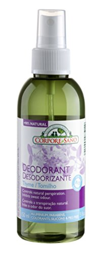 Corpore Sano Natural Deodorant Spray Thyme-CERTIFIED ORGANIC-NO PARABENS/ALUMINIUM-150 ml/5 fl oz (Spray Sani)