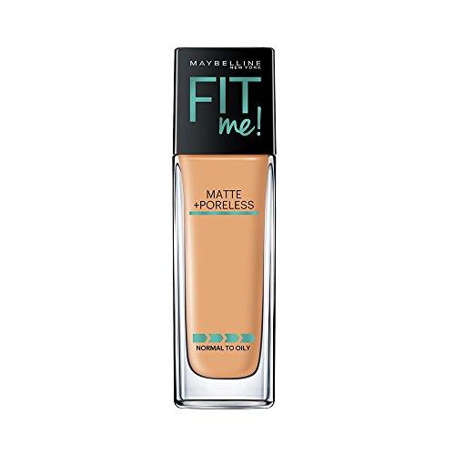 Maybelline Fit Me Matte + Poreless Liquid Foundation Makeup, Sun Beige, 1 fl. oz. Oil-Free Foundation