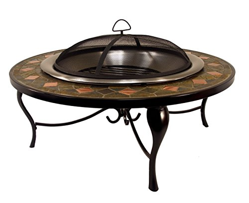 Slate Mosaic Fire Pit Table With Copper Accents Best