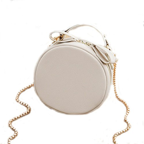 White Bag Security Bag Female Small Bag Small Bag Bag Crossbody Chain Hand Round Bag UxaxAqwO