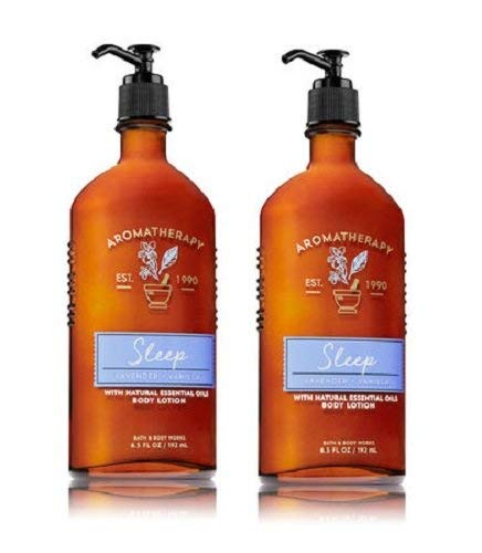 Bath and Body Works Body Lavender and Vanilla Body Lotion with Natural Essential Oils - 2 Pack          -