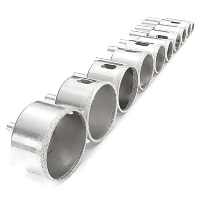 BABAN Diamond Drill Bit Set Hole Saw Kits Pack of 10 Sizes 10mm 14mm 16mm 18mm 20mm 26mm 32mm 38mm 45mm 50mm