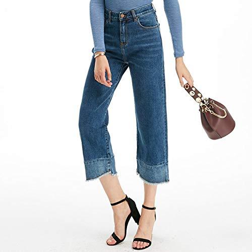Blue Casuales Jeans Mayor MVGUIHZPO al M Jeans Jeans Deep piernas por XS Sueltas Mujeres Damas Pantalones wqP1O