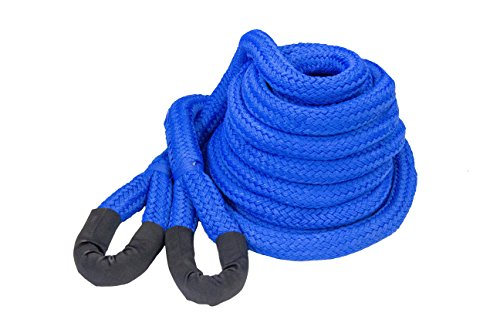 DitchPig 448541 Kinetic Energy Vehicle Recovery Double Nylon Braided Rope with Duffel Bag, 1-1/4