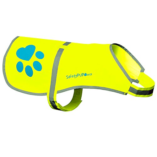 Dog Reflective Vest, Sizes to Fit Dogs 14 lbs to 130 lbs - SafetyPUP XD Hi Vis, Safety Vest Keeps Dogs Visible On and Off Leash in Both Urban and Rural Environments
