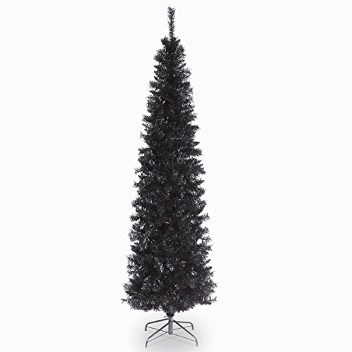 National Tree 6 Foot Black Tinsel Tree with Metal Stand (TT33-704-60)]()