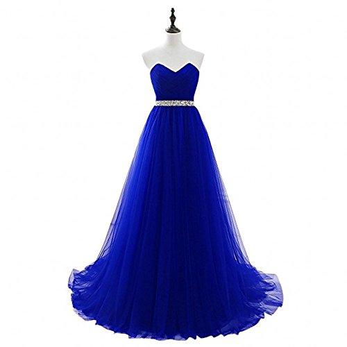 Quincenera Schulterfrei Herzausschnitt Braut Marie Lang Royal Abendkleider Abiballkleider Ballkleider Blau La RAqY6SxR