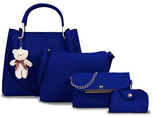 Fargo Women's Handbag (Set of 4, Blue)