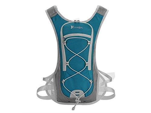 OVIIVO Bike 15L Hydration Pack Water Rucksack Backpack Hydration Bladder Backpack for Biking Cycling Travel Hiking (Lake Blue) by OVIIVO