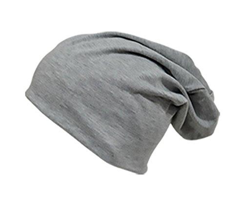 easy4fashion para hombre de punto claro gris Gorro AvAgO