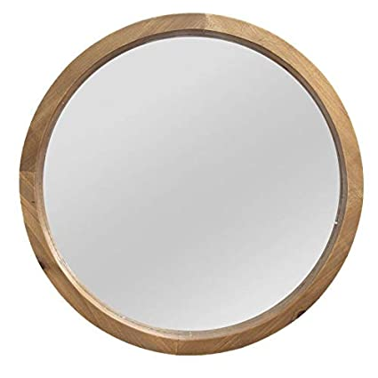 natural wood mirror elm homeroots furniture wood mirror with natural woodgrain color 321298 amazoncom