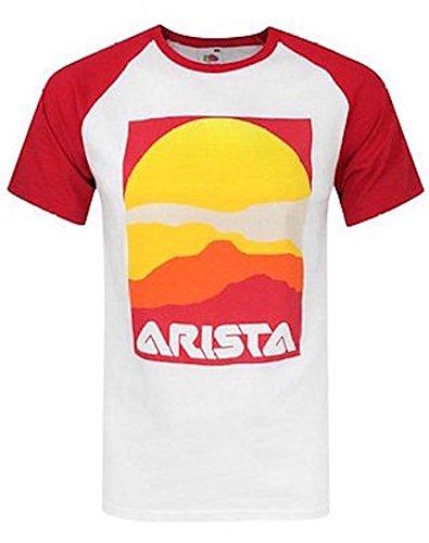 ARISTA RECORDS - LOGO (BASEBALL) - OFFICIAL MENS T SHIRT