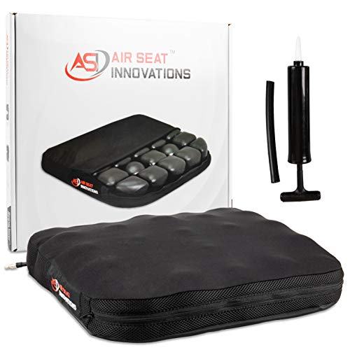 Air Seat Innovations Seat Cushion: Office Chair, Wheelchair, Car or Truck Driver Seat Pad - Lower Back, Coccyx and Sciatica Pain Relief, 18