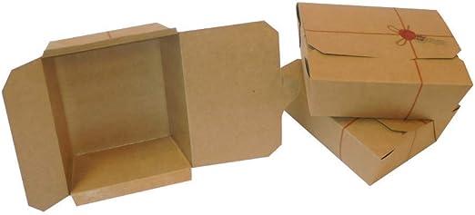 60 cajas de alimentos medianas de cartón para alimentos genéricos y reutilizables: Amazon.es: Hogar