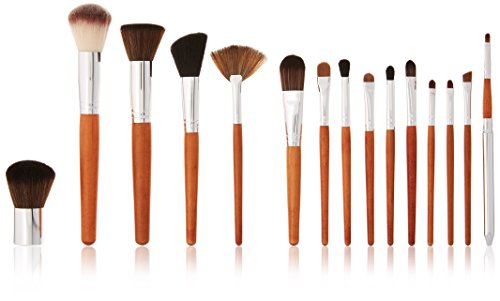 M A C Professional Makeup Brushes - Vanity Planet Palette 15 Piece Professional Makeup Brush Set, Birchwood