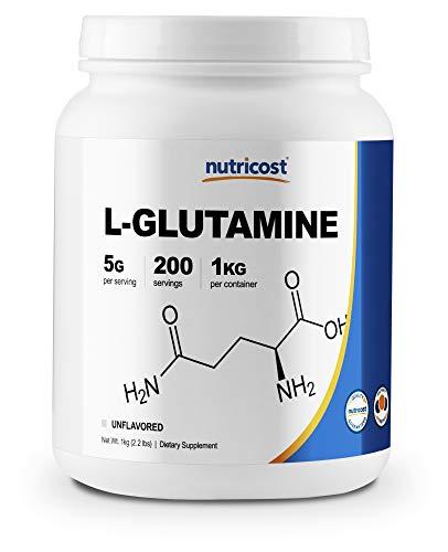 Nutricost L-Glutamine Powder 1 KG - Pure L Glutamine, 5000mg per Serving, Non-GMO, Gluten Free