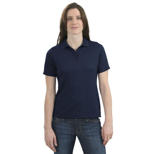Port Authority Ladies Bamboo - Port Authority Ladies Bamboo Blend Pique Sport Shirt, Navy, L