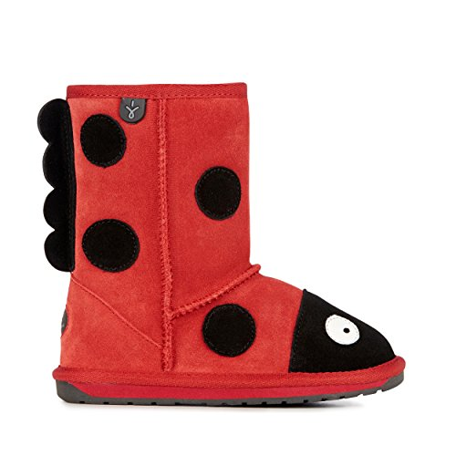 EMU Australia Little Creatures Lady Bird Shearling Boot (Toddler/Little Kid/Big Kid),Red,12 M US Little Kid ()