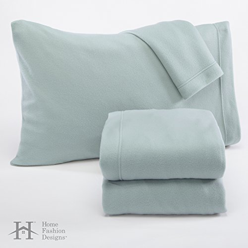 Home Fashion Designs Maya Collection Soft Extra Plush Polar Fleece Queen Sheet Set, Cloud Blue