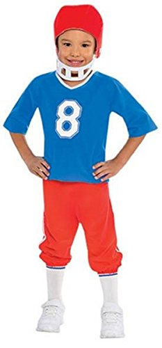 amscan Boys Little Linebacker Football Costume - Toddler (3-4), Multicolor