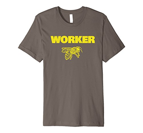 Worker Bee Costume (Mens WORKER BEE Funny Bug Lover Beekeeper Halloween Costume Shirt XL Asphalt)