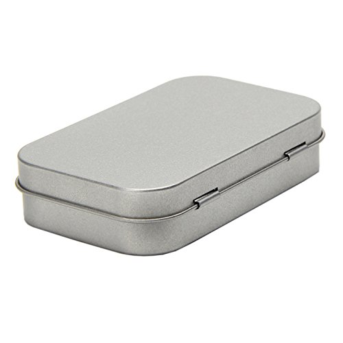 Tangc Small Metal Tin Silver Flip Storage Box Case Organizer For Money Coin Candy Key by Tangc (Image #4)